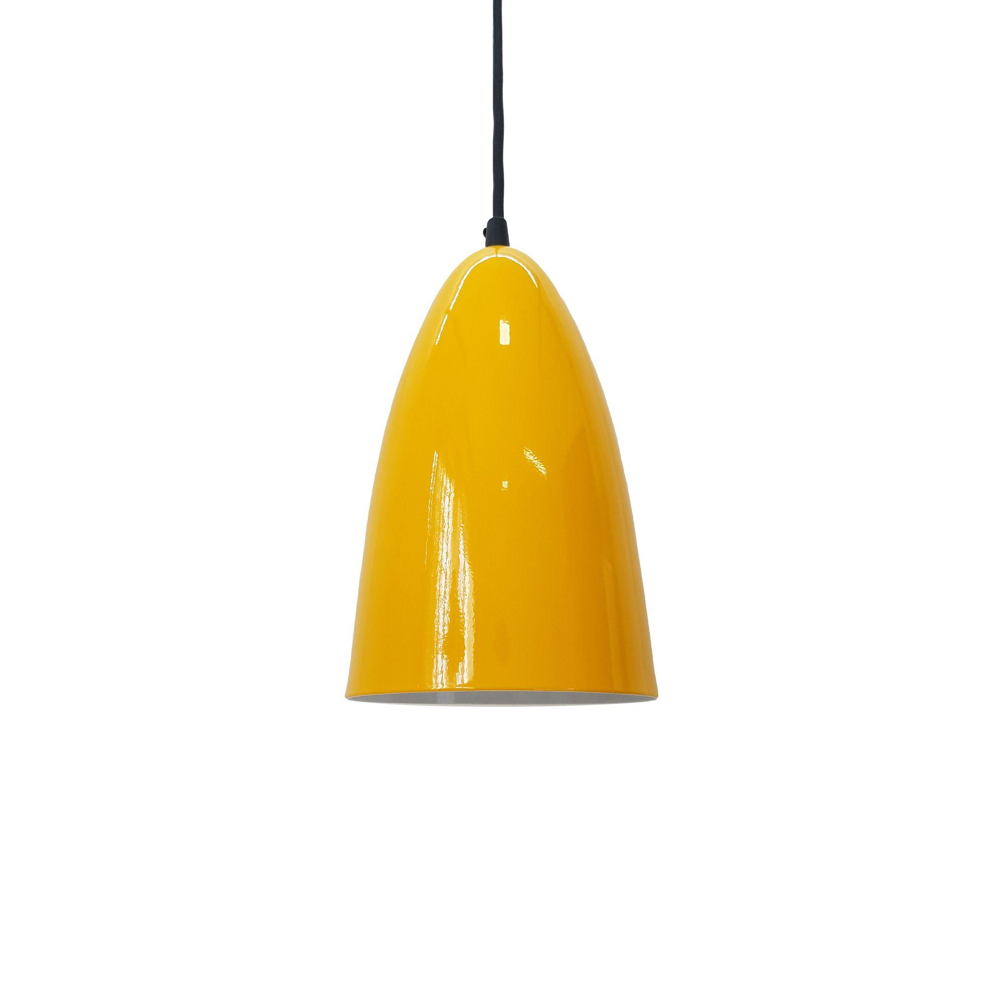 Pendente Detroit Aluminio Amarelo 1E27 13x22CM PD131/AM