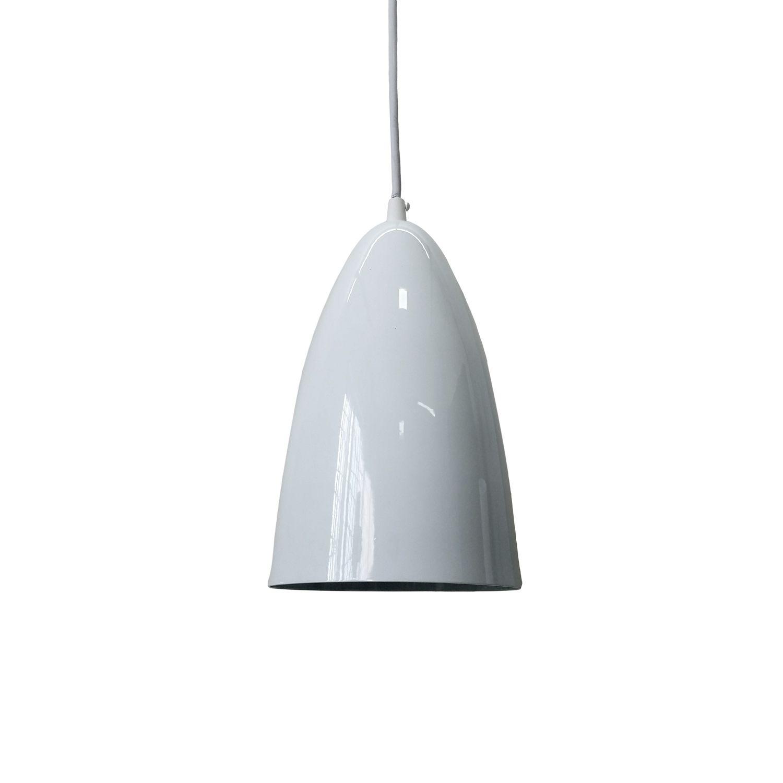 Pendente Detroit Aluminio Branco 1E27 13x22CM PD131/BC