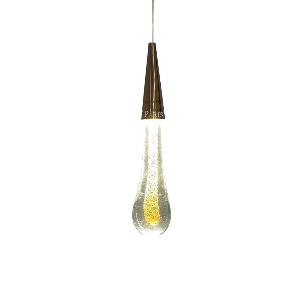 Pendente Dourado 1 Gota LED 6W