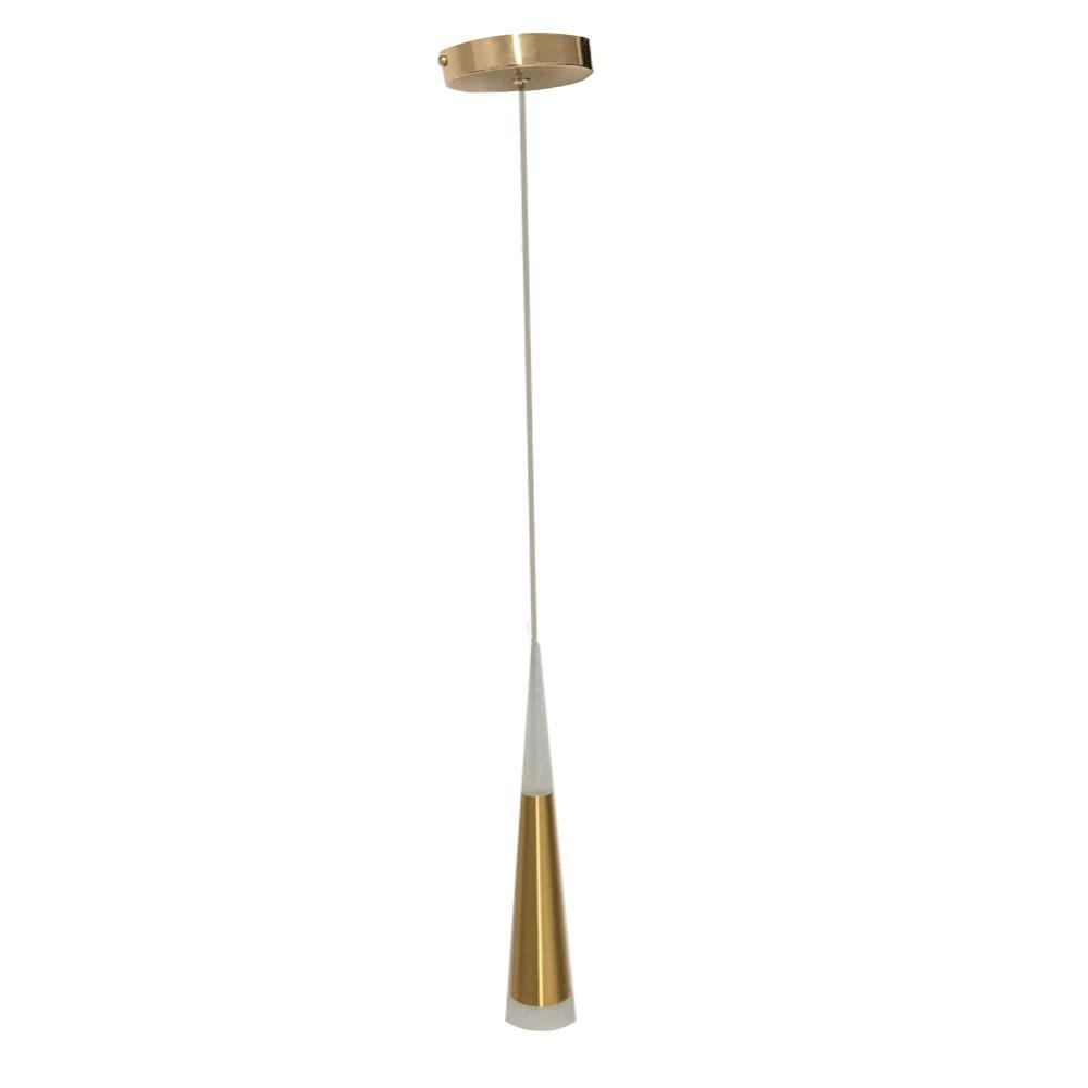 Pendente Dourado Cone 45CM LED 3W 3000k