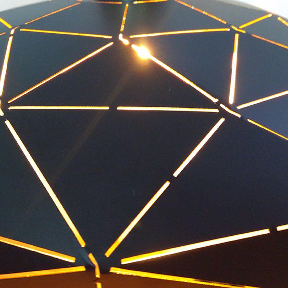 Pendente Em Metal Origami Preto 1E27 32X9CM KE001BG Bella