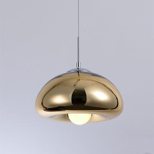 Pendente Félix Vidro Dourado 1E27 30x20cm