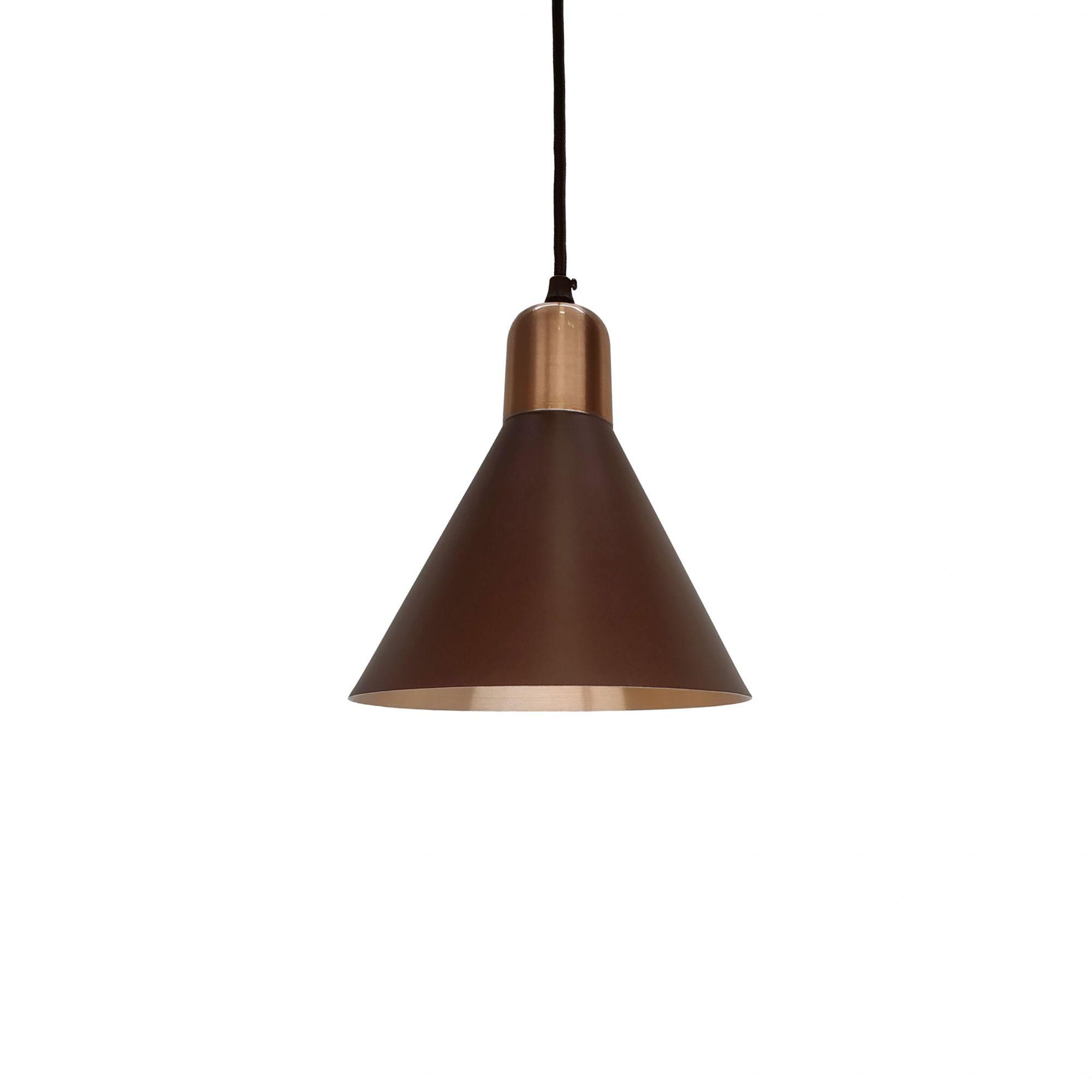 Pendente Fuji Premium Marrom/Cobre 18,5x18cm 6104