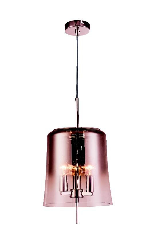 Pendente Hive Metal Vidro Cobre 27x25cm 3E14 PD1134  New Line