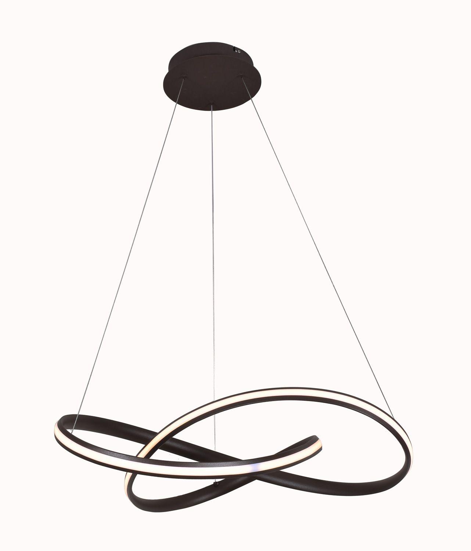 Pendente Infinity Led 44W 3000K 70cm Marrom Bivolt