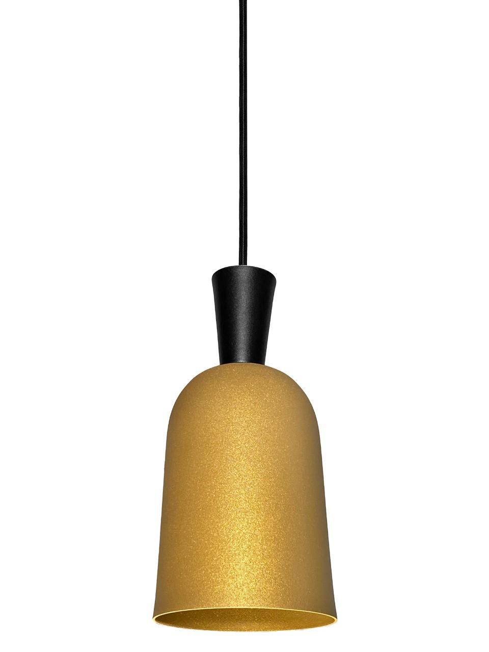 Pendente Istambul Cone Dourado/Preto 22x10CM 7057T Balcão