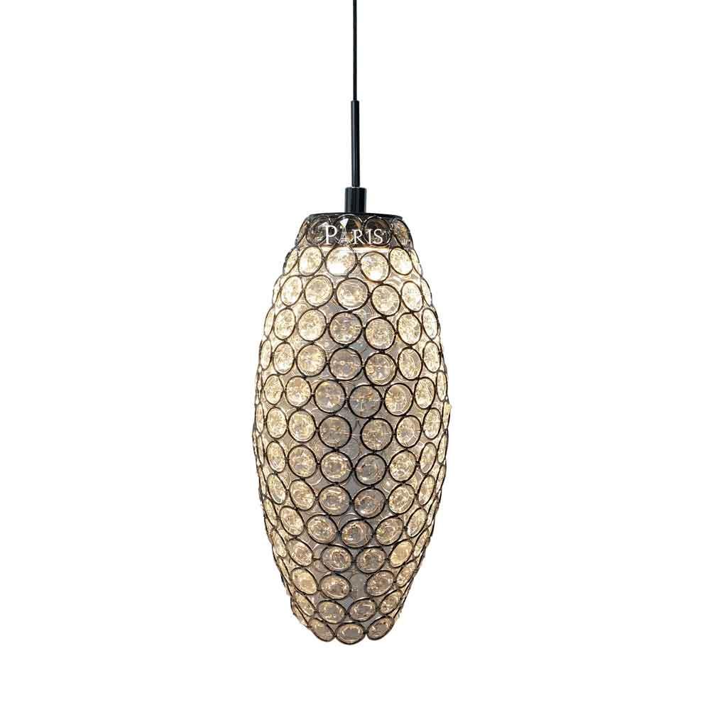 Pendente Luca Cristal LED 9W 13x27cm