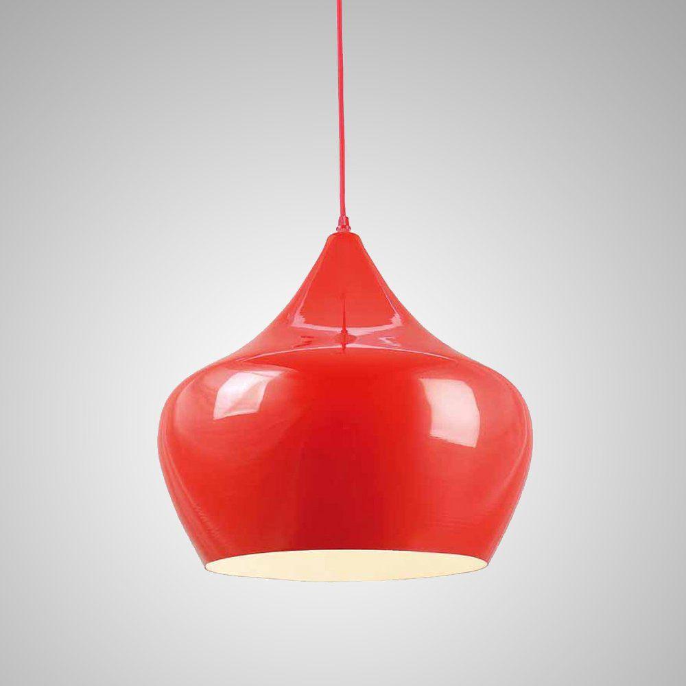 Pendente Luminaria Metal Vermelho Apple 38CM E14 BTC