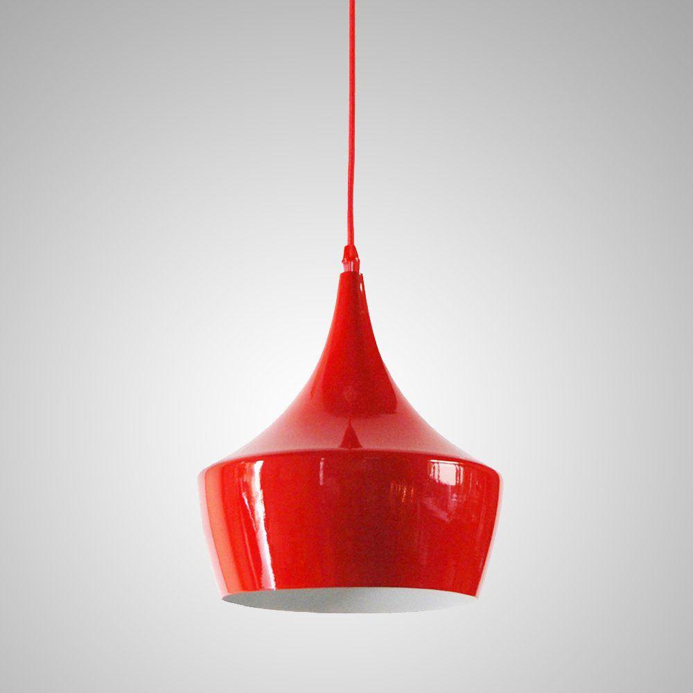Pendente Luminaria Metal Vermelho Cirque 24CM E14 BTC