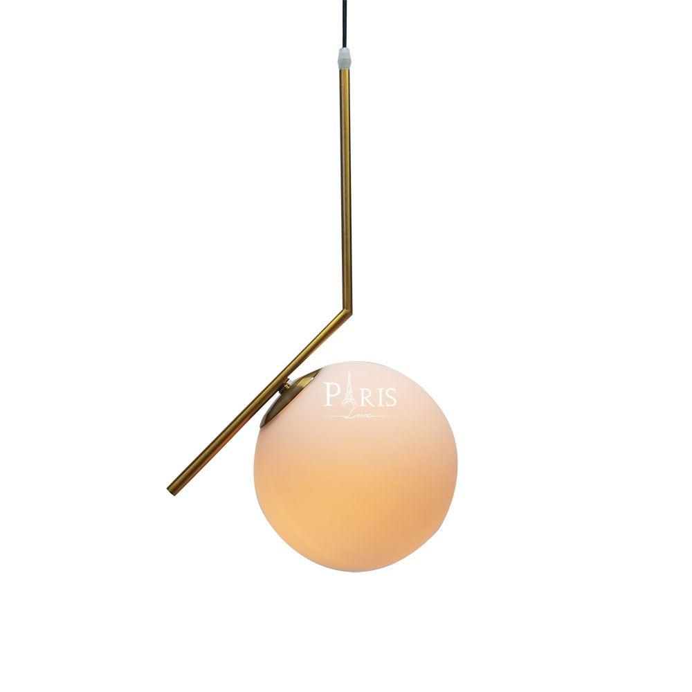 Pendente Metal Dourado Esfera Globo 15cm E27 Delis
