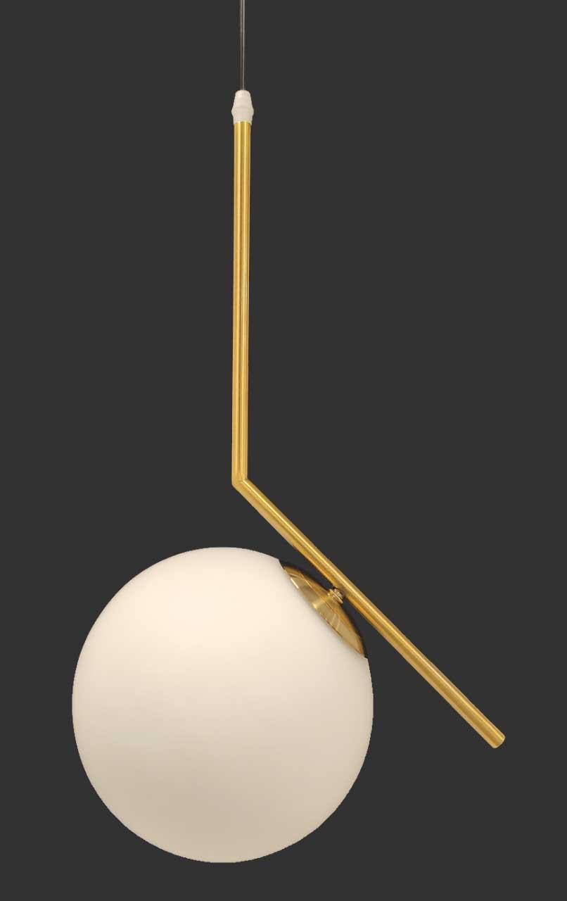 Pendente Metal Dourado Esfera Globo E27 Delis