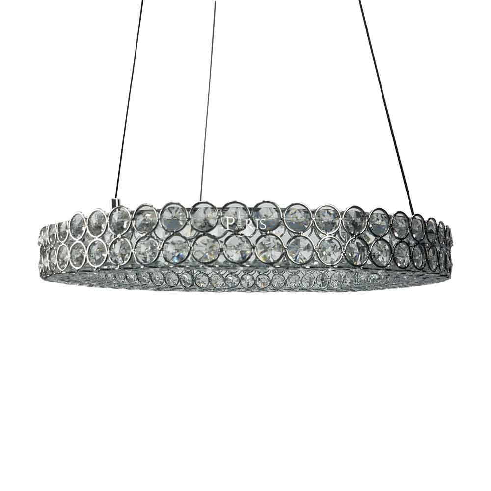 Pendente Ornella Redondo Cristal LED 24W 50x10cm