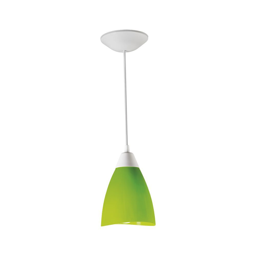 PENDENTE POP TULIPA VERDE/BRANCO 1E27 PD10/VD-BR KIN LIGHT
