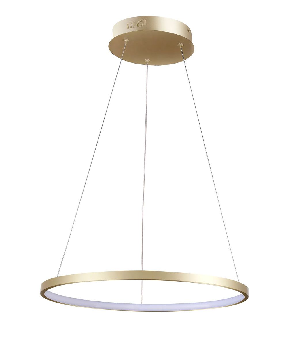 Pendente Rings Anel em Metal Dourado 40CM LED 20W Bivolt 3000K Branco quente QPD1300-DO