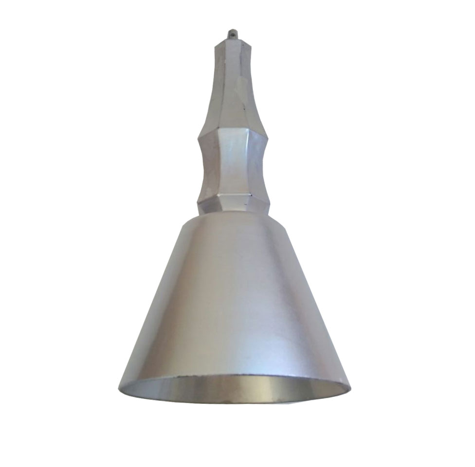 PENDENTE VIDRO PRATA E BASE CROMADA 1E27 LIGHTING STORE