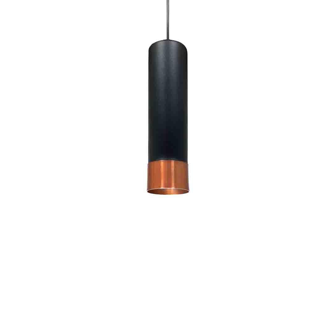 Pendente Viena Preto Fosco/Cobre 30x8cm 9551