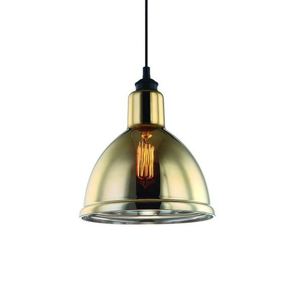 Pendente Zahara Metal Vidro Dourado 25x28cm 1E27 PD1197-DO New Line