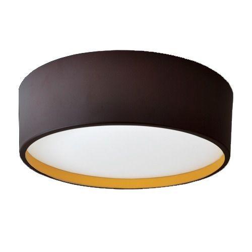 Plafon Alliance Em Alumínio Marrom Corten/Amarelo 370MM 4E27