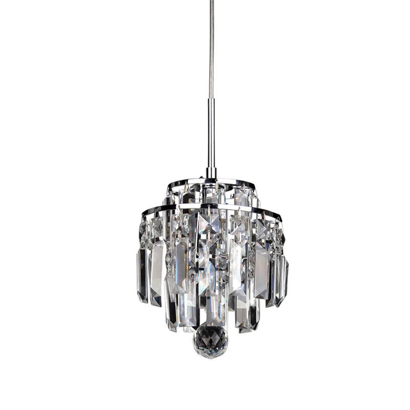 Pendente Cristal Kri HU2105 Transparente 1G9 18cm Bella