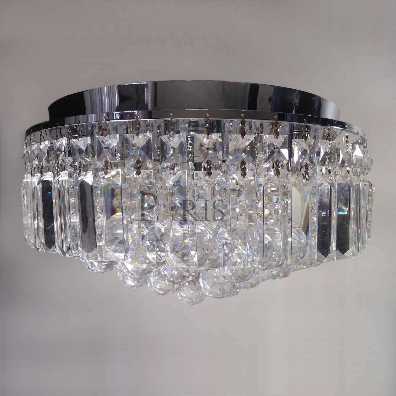 Plafon Kri Cristal HU1103 Transparente 5G9 40CM Bella