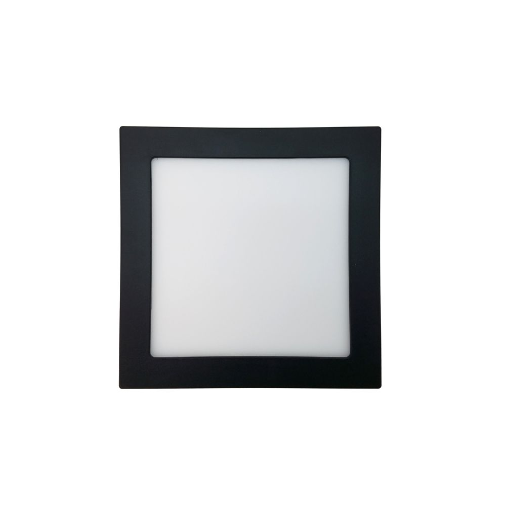 Plafon Led 20W 4000K Sobrepor Quadrado Preto 22,5CM Save Energy