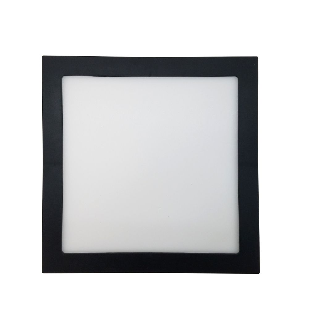 Plafon Led 25W 3000K Embutir Quadrado Preto 30CM Save Energy