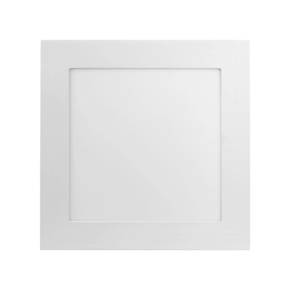 Plafon Led 25W 5700K Luz Branca Embutir Quadrado 30CM Save Energy