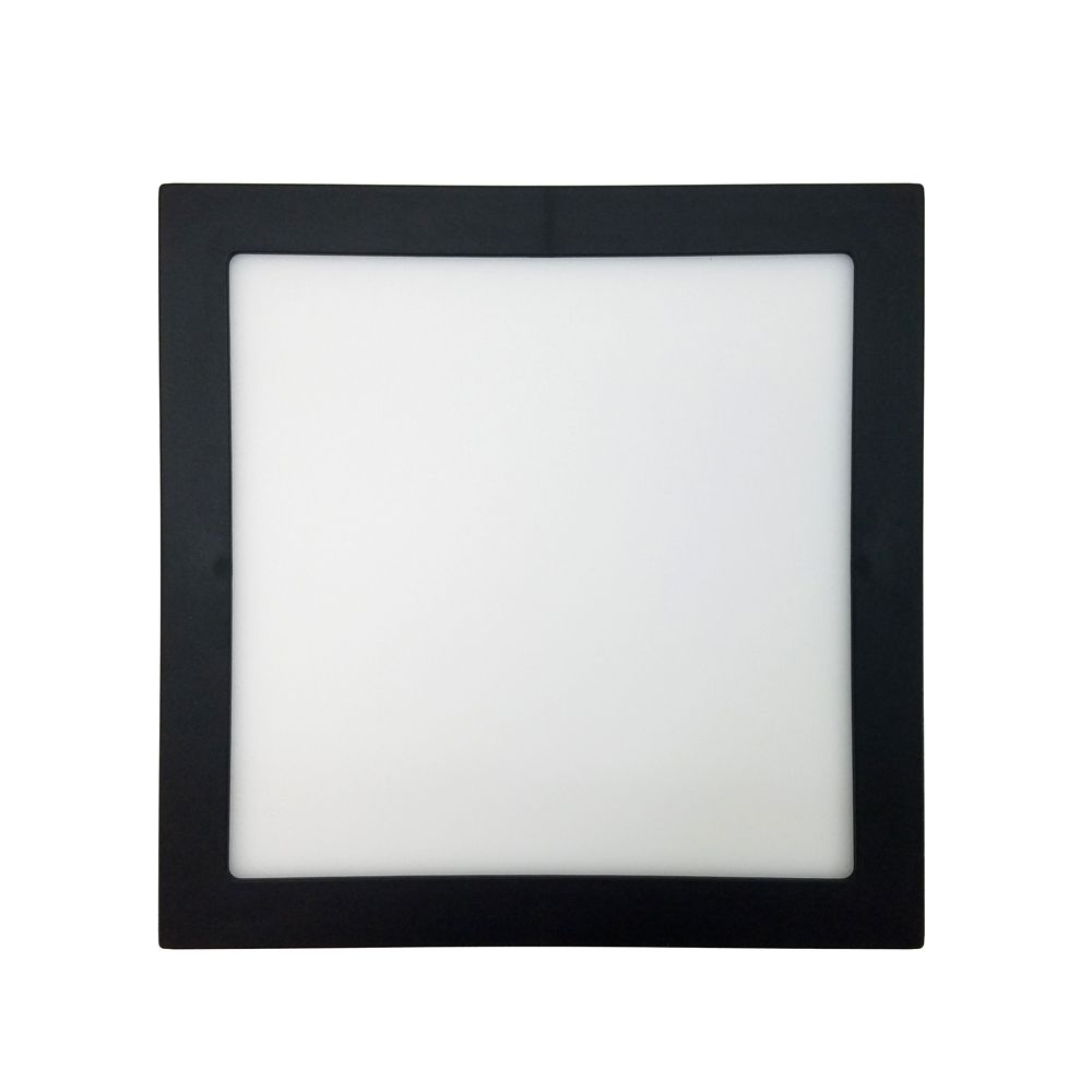 Plafon Led 25W 5700K Sobrepor Quadrado Preto 30CM Save Energy