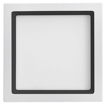 Plafon Led Embutir 20W 5700K Luz Branca Recuado Branco/Preto 22,5CM Save Energy