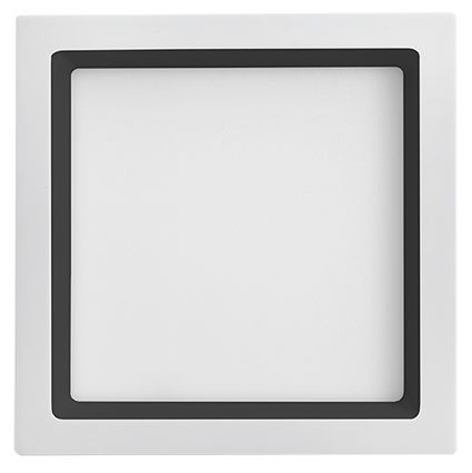 Plafon Led Embutir 25W 3000K Luz Amarela Recuado Branco/Preto 30CM Save Energy