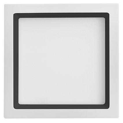 Plafon Led Embutir 25W 5700K Luz Branca Recuado Branco/Preto 30CM Save Energy