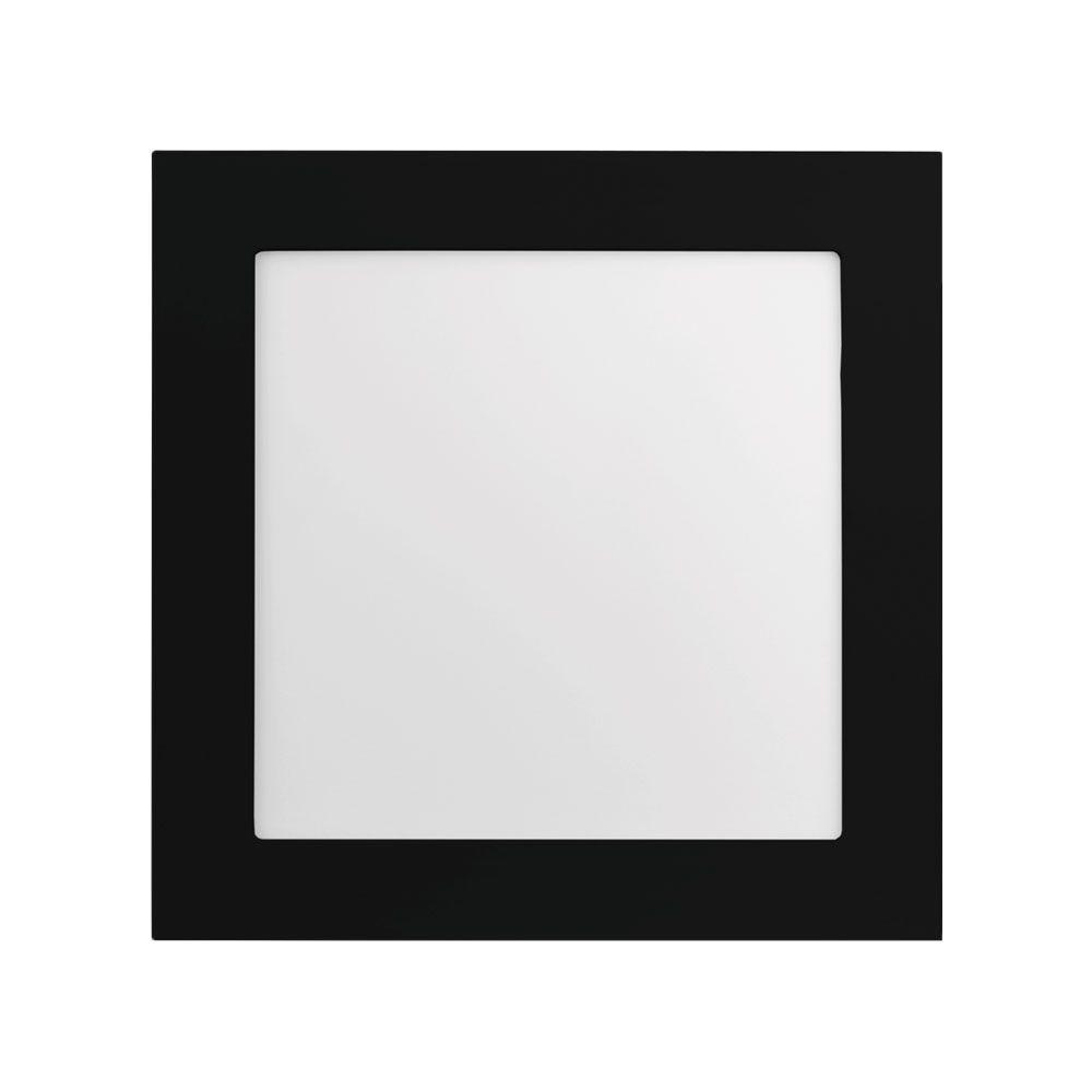 Plafon Led Embutir 6W 5700K Quadrado Preto 12cm Save Energy