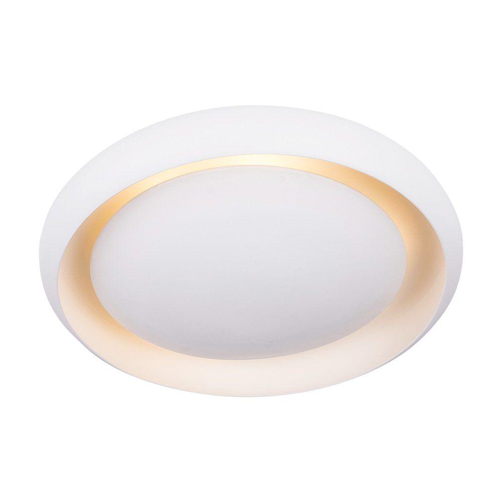 Plafon Luz Indireta Eclipse Alumíno Branco 40CM 3E27