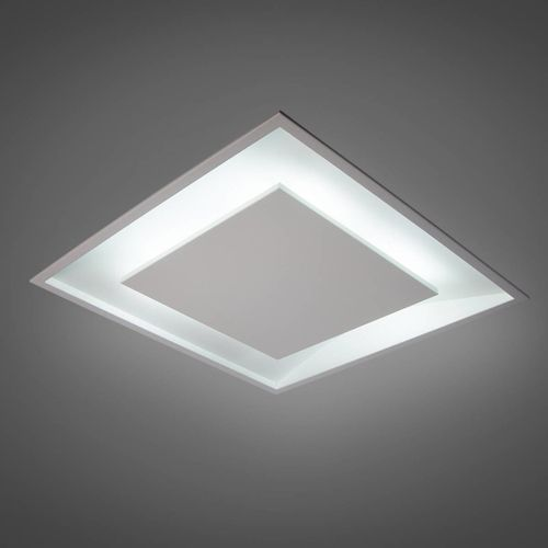 Plafon Luz Indireta Embutir Quadrado 6G9 50X50CM REAL 201/50