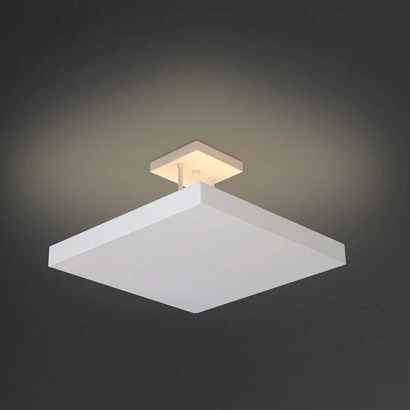 Luminária Plafon Luz Indireta Sobrepor 4E27 40X40CM REAL 100/40