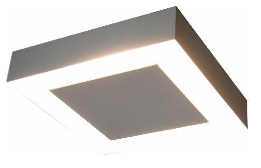 Plafon Luz Indireta Sobrepor Quadrado 4G9 50x50cm 6252 Piuluce