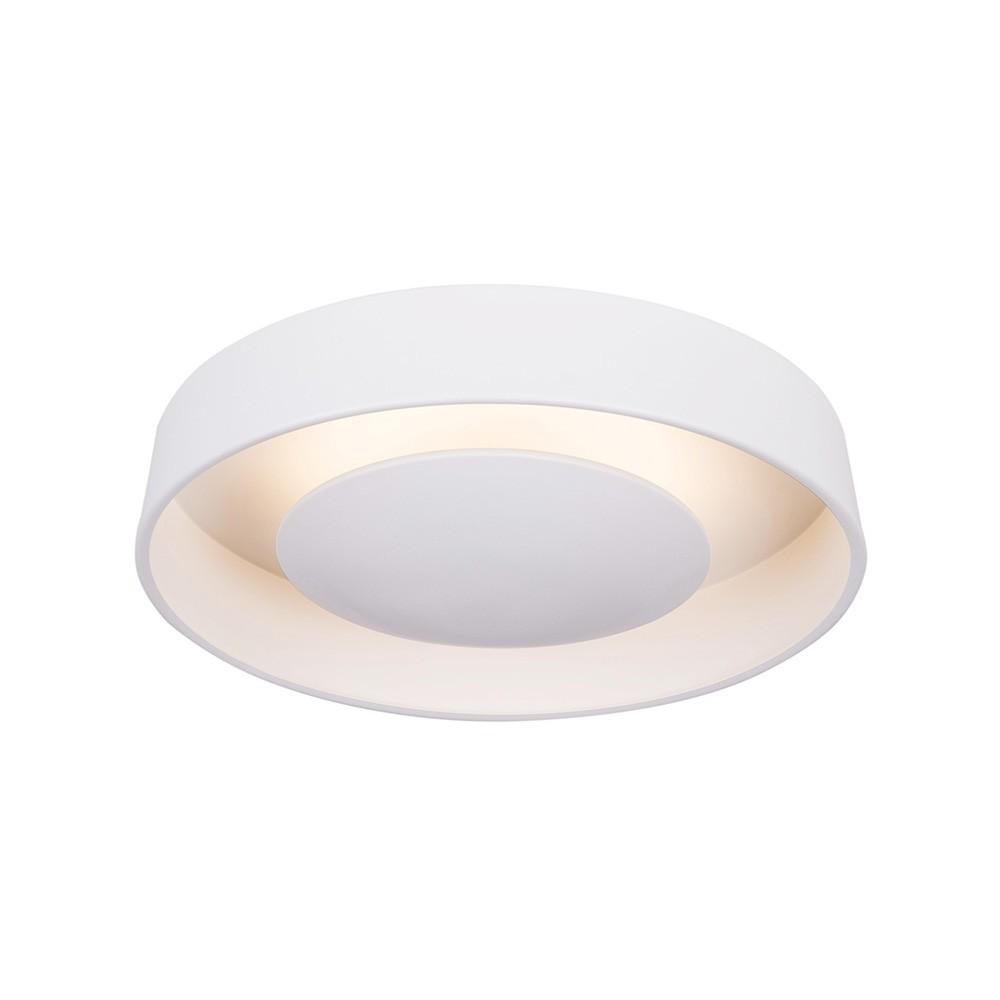 Plafon Orbit Aluminio Branco 37CM 2E27