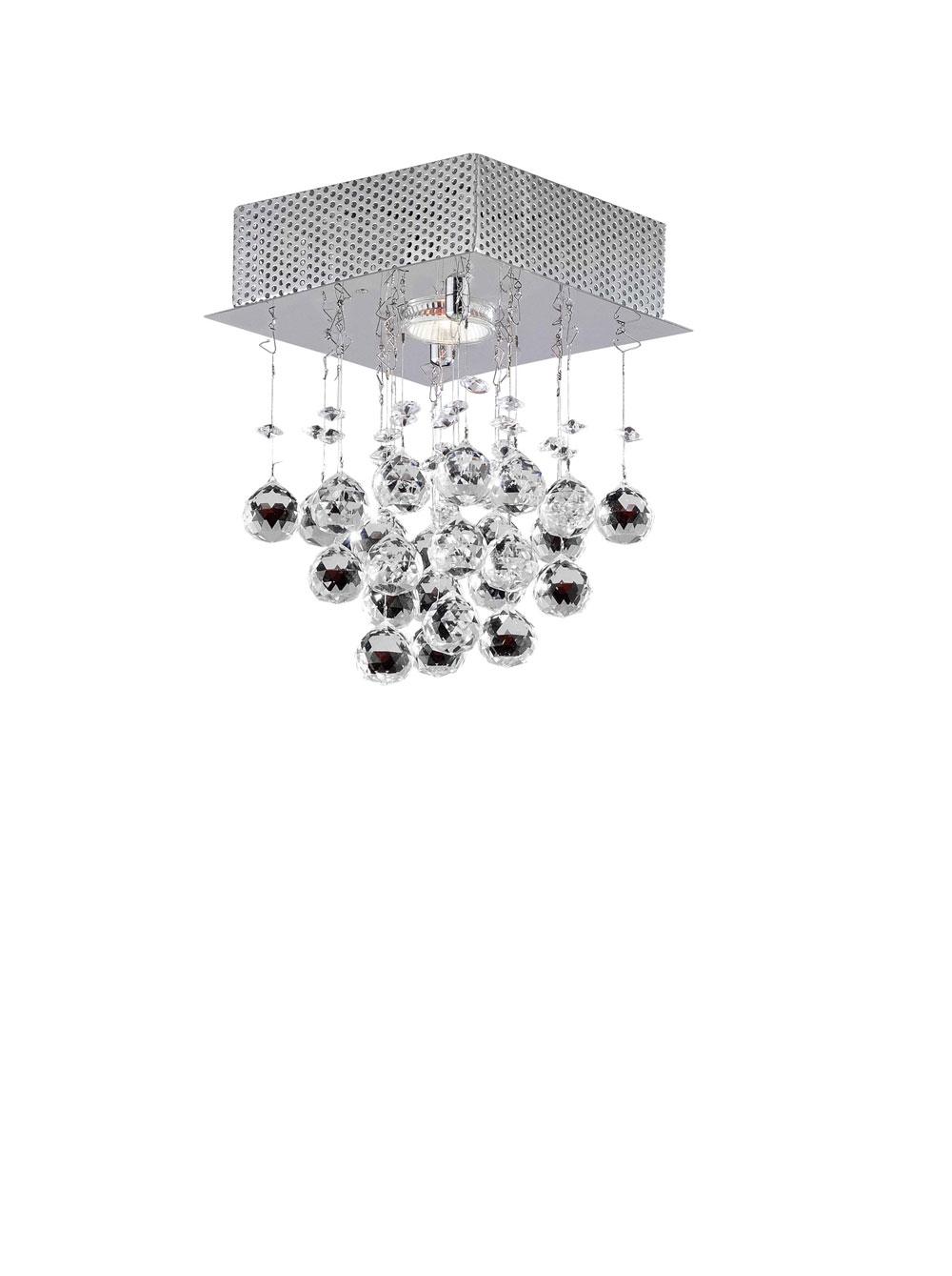 Plafon Sobrepor Cristal Queen 18CM 1 Lâmpada llum