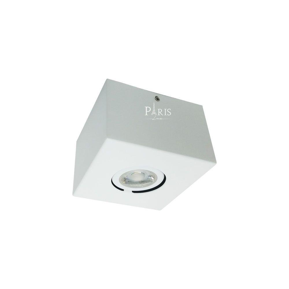 Plafon Spot Florence Sobrepor Dicroica Gu10 Branco 11,8x8cm Acend
