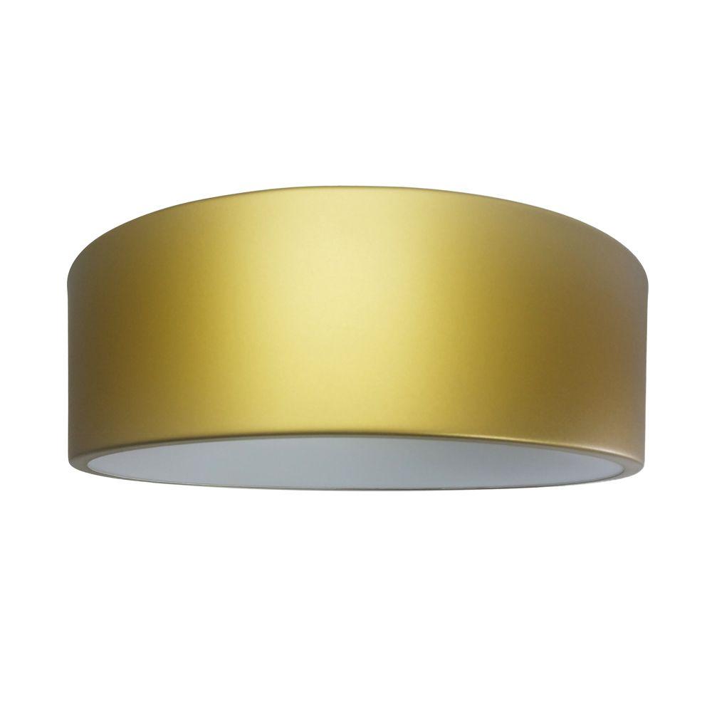 Plafon Sushi Em Aluminio Dourado 370MM 4E27 Forma da Luz