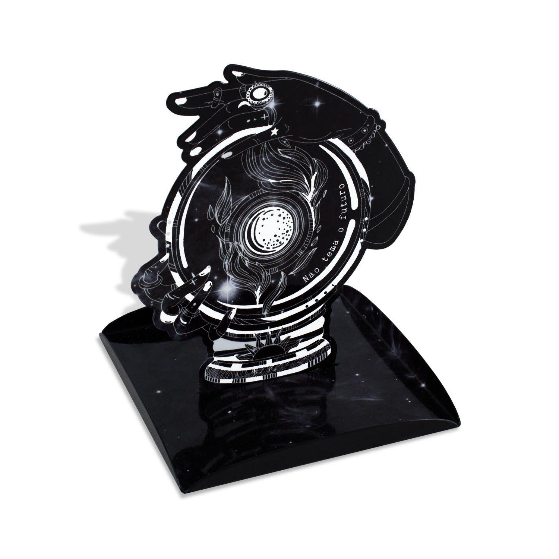 Porta Joias aço Decorativo Mistico Astro Joias Futuro 15x19CM