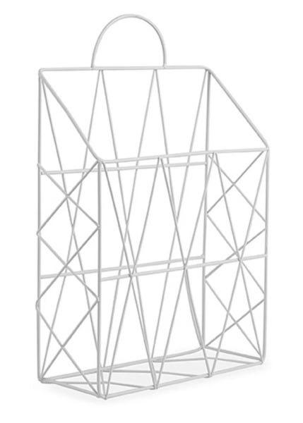 Porta Revista Branco em Metal 10973 MART