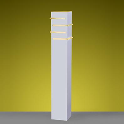 Poste Balizador Flash Aço/Termoplastico Branco 1E27 50CM
