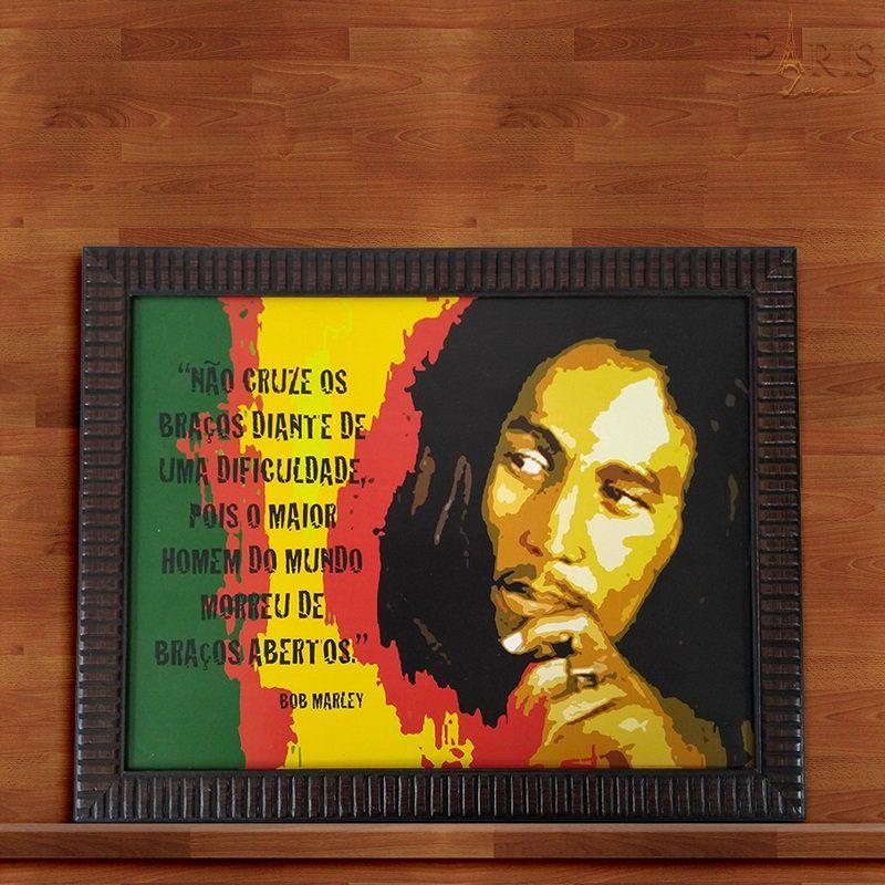 Quadro Decorativo Com Moldura Bob Marley 30X40CM QD21