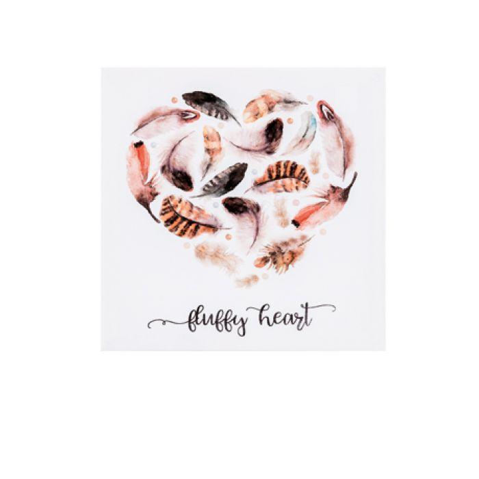 """Quadro Em Canvas Decorativo """"Fluffy Heart"""" Com Moldura 7902 28X28CM"""