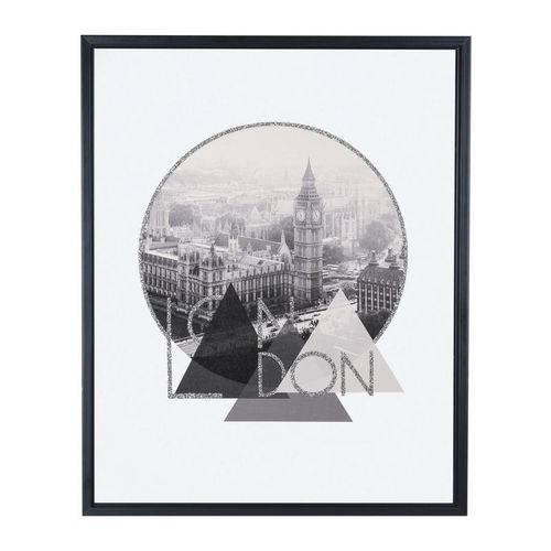 Quadro Em Canvas London Com Moldura 50x40CM 09577 Mart