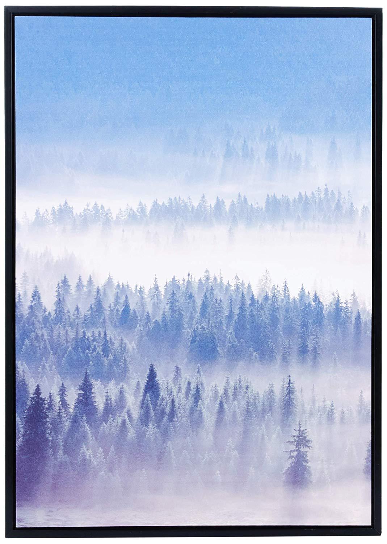 Quadro Em Canvas Paisagem Neblina Com Moldura 70x50CM 09548 Mart