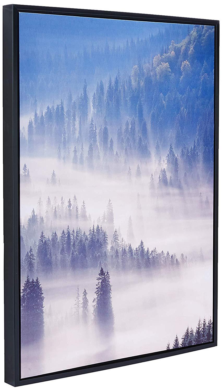 Quadro Em Canvas Paisagem Neblina Com Moldura 70x50CM 09549 Mart