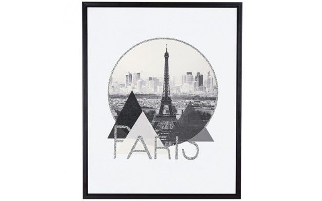Quadro Em Canvas Paris Com Moldura 50x40CM 09578 Mart