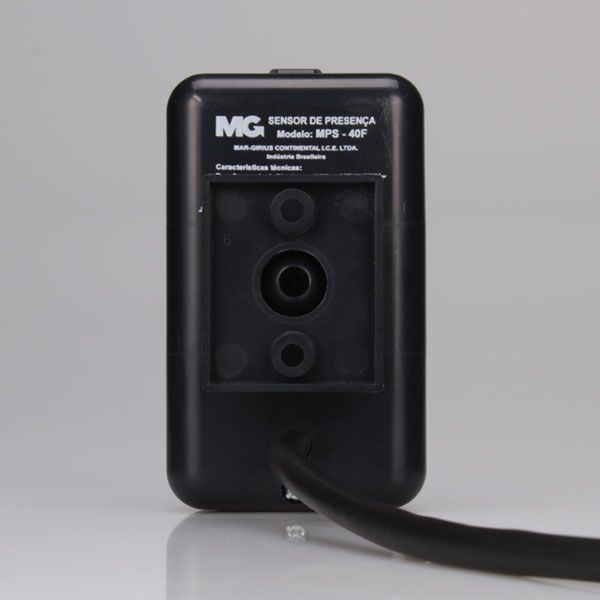 Sensor De Presença Parede Sobrepor Preto MPS-40F MarGirius